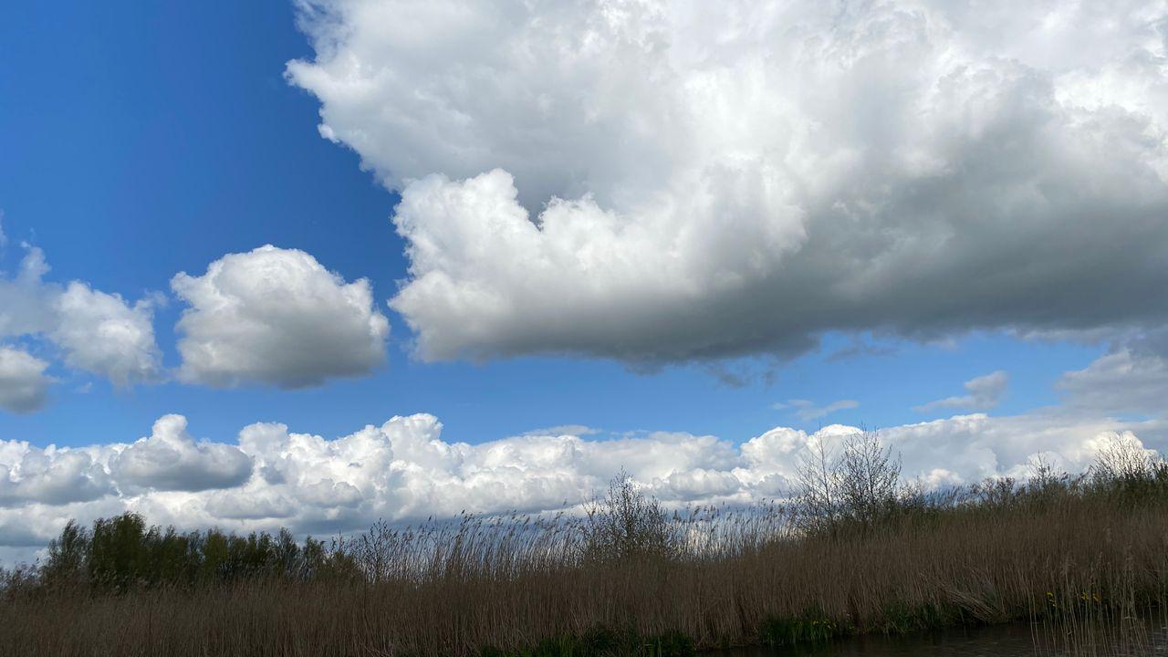 Weerbericht voor woensdag 5 mei: Zon/wolken en buien. Vanaf het weekend warmer!
